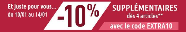 SOLDES : -10% supplémentaires juste pour vous*