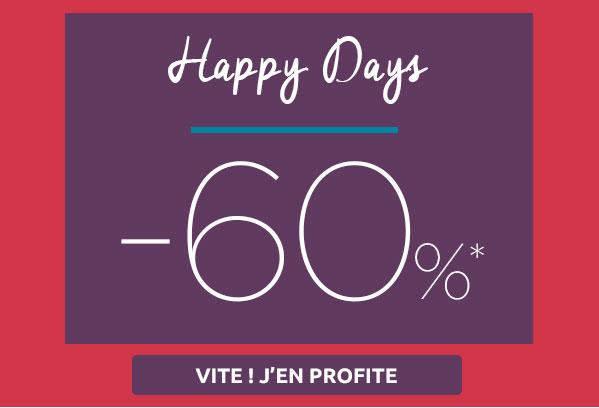 Opération Happy Days : Tout à -60%